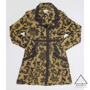 Neesh by Dar Anthropologie Tapestry Viscose Jacket